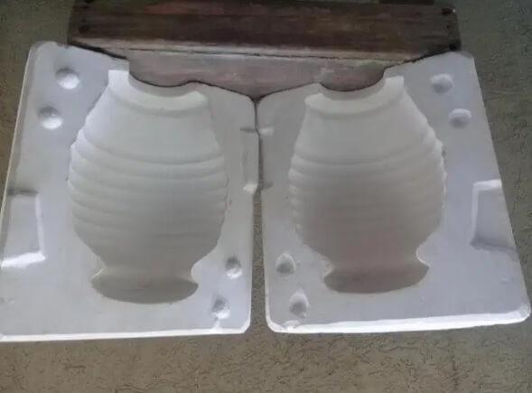 molde de dos partes, molde de yeso para escultura, molde de yeso para figura, molde de yeso para maceta
